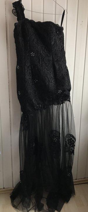 Abendkleid Meerjungfrau schwarz spitze  38-40 Tüll