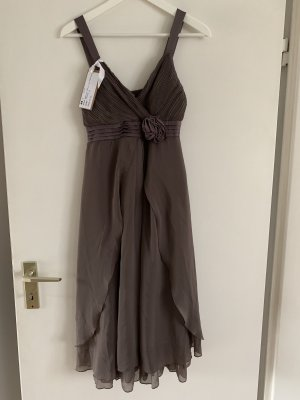 Vila Empire Dress grey brown