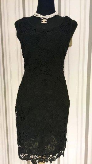 Abendkleid / Mini Kleid Größe S (36) mit Spitze in schwarz