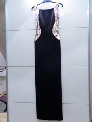 Abendkleid mit Besatz aus Wende-Pailletten