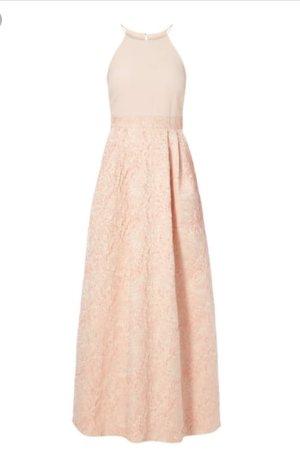 Abendkleid mit Effektgarn in roségold