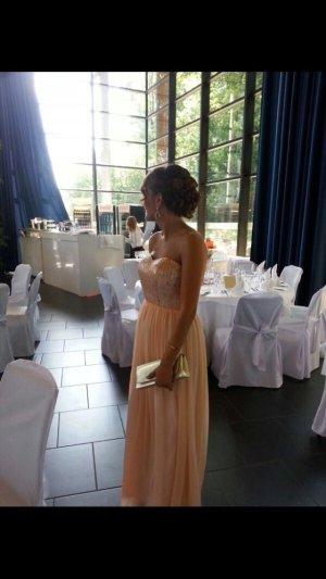 Abendkleid mit Glitzer Oberteil