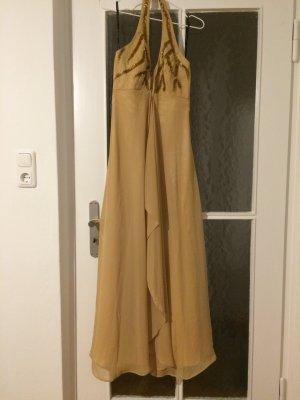 Abendkleid mit goldenen Pailletten