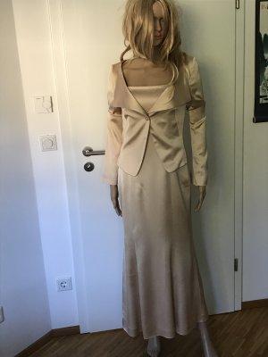 René Lezard Evening Dress cream