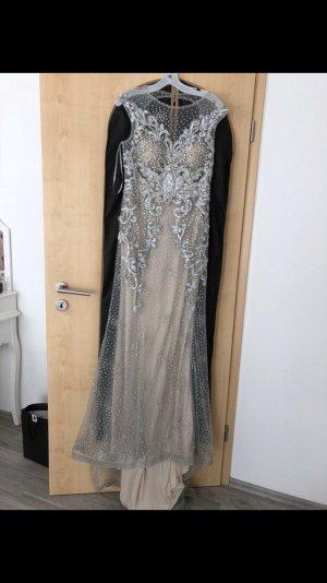 Evening Dress grey-nude