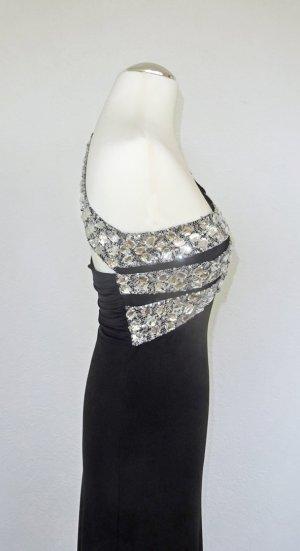 Apart  glamour Abito da sera nero-argento Fibra sintetica