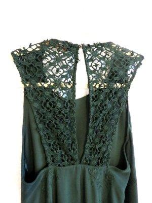 Abendkleid mit Spitze in Grün Zara Gr. s / 36 Maxikleid NEU