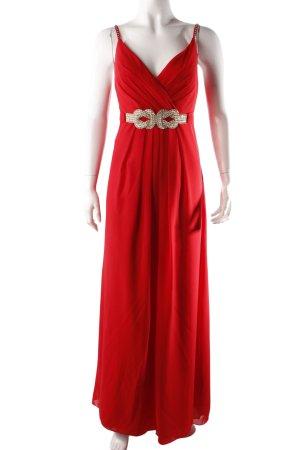 Abendkleid mit Strass rot
