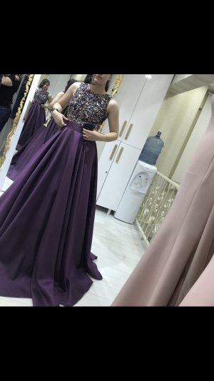 Robe de soirée violet-lilas