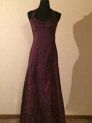 Abendkleid neckholder Bordeaux/weinrot Gr.36