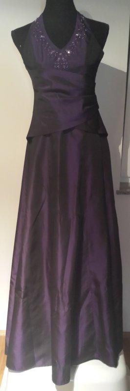 Abendkleid Neckholder Purple Gr. 38