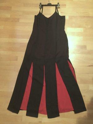 Abendkleid oder Sommerkleid in 2 Lagen schwarz - rot