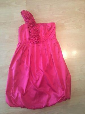 #Abendkleid#One Sholder# pink#Satin#Ballonkleid#Rüschen