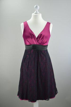 Abendkleid Orsay mit Spitze lila Größe 40