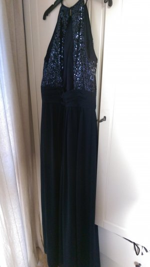 Abendkleid Pailletten dunkelblau Gr. 36 NEU!! Abiball Hochzeit