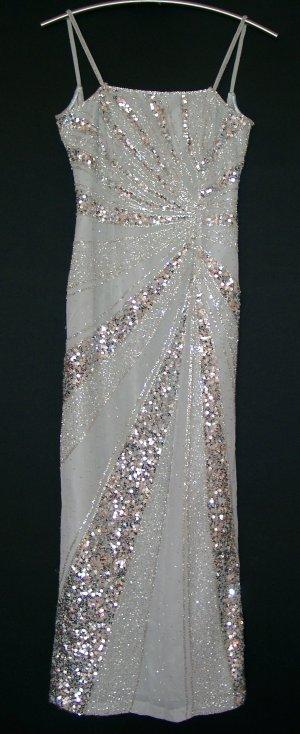 Abendkleid, Paillettenkleid, Gr. S / 34-36 / 17