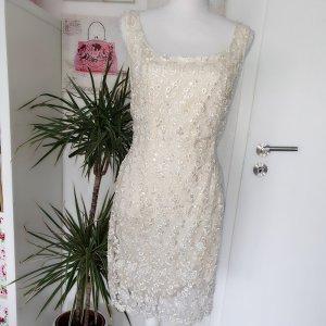 Abendkleid Pallettenkleid wollweiß gr. 40