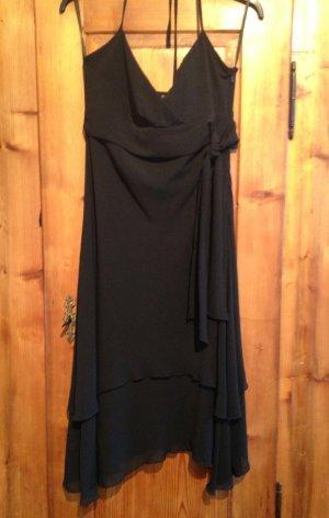 Abendkleid Partykleid Cocktailkleid ZERO Trägerkleid schwarz elegant WIE NEU!