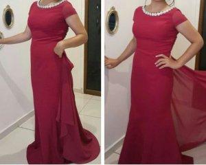 Abendkleid pink größe 40