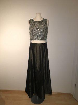Abendkleid Rock und Top Gr.42 Ballkleid Kleid mit Pailletten