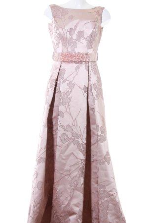 Abendkleid rosé florales Muster Elegant