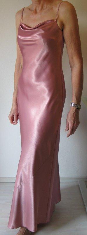 Abendkleid Rosé, Satin