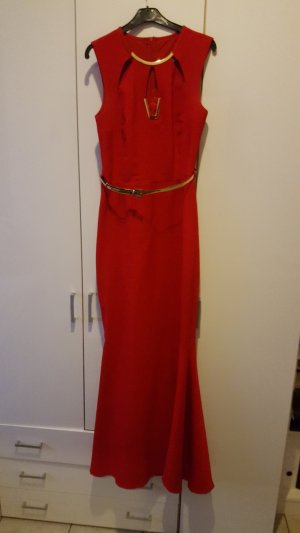Evening Dress red-neon red