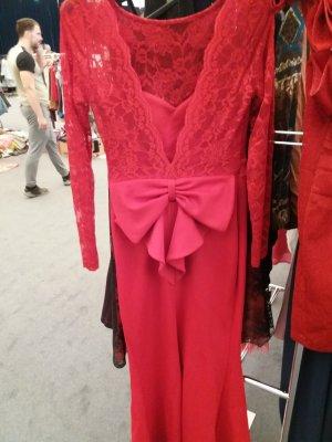Asos Evening Dress red