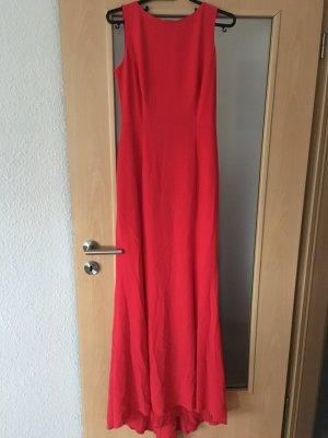 Abendkleid rot mit Rückenmotiv