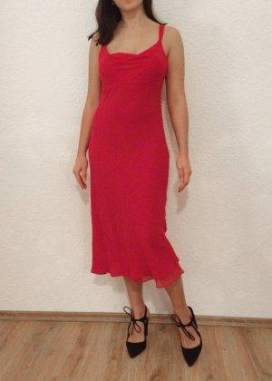 Abendkleid Rot Seide 100% Silk Debenhams Gr. 40 M