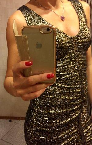 Abendkleid Scheartz-Gold, Gr 36-38