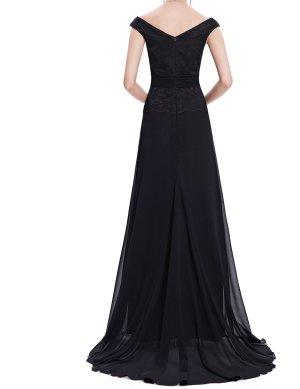 Abendkleid schwarz 44