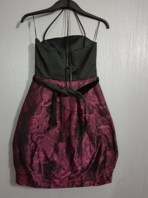 Abendkleid schwarz/bordeaux