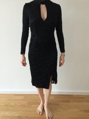 Abendkleid Schwarz Gemustert
