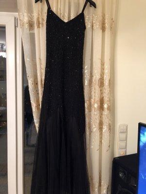 Abendkleid schwarz lang mit Pailletten