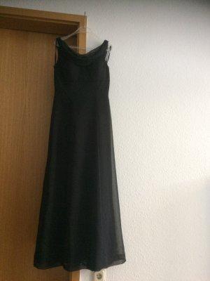 Abendkleid schwarz mit Wasserfallkragen