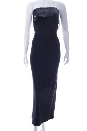 Abendkleid schwarz Paillettenverzierung
