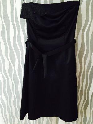 Abendkleid schwarz Satin