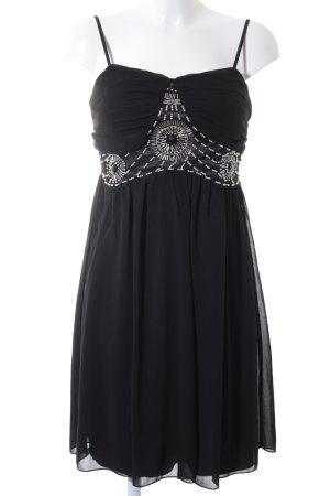 Abendkleid schwarz-silberfarben Elegant