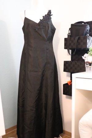 Abendkleid schwarz Strass spaghetti Träger Ballkleid Prinzessin A - Linie von zero