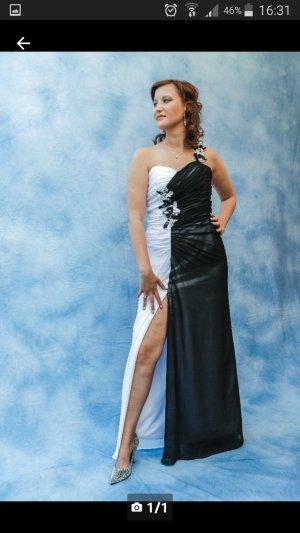 Abendkleid Schwarz -Weiß