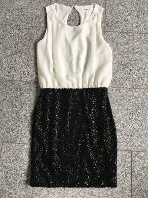 Abendkleid schwarz/weiß Gr. S
