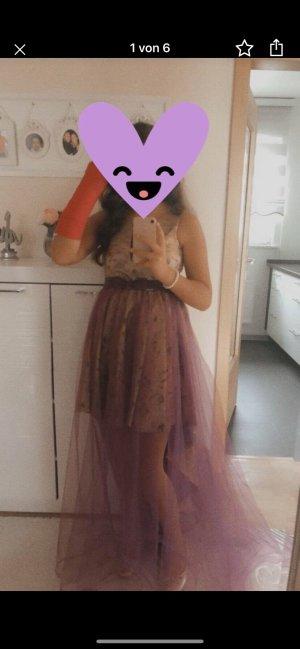 Avondjurk goud-violet