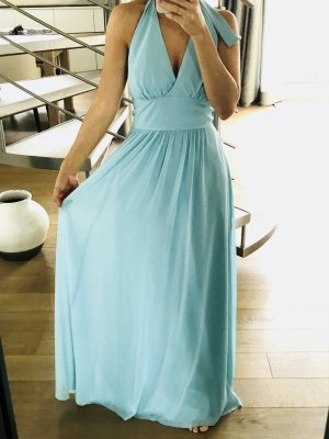 Swing Robe chiffon turquoise-bleu clair