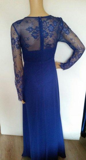 Abendkleid Spitze blau 36