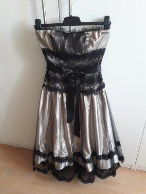 Apart  glamour Vestido de noche negro-nude