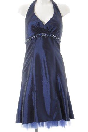 Abendkleid stahlblau Elegant