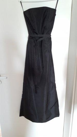 Abendkleid trägerlos schwarz