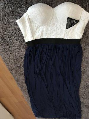 Asos Corsage Dress white-blue