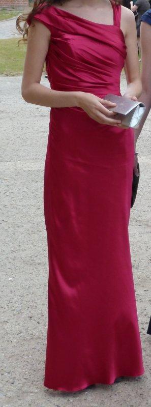 Abendkleid Unique Gr. 36 pink langes Ballkleid Abiball Kleid festlich